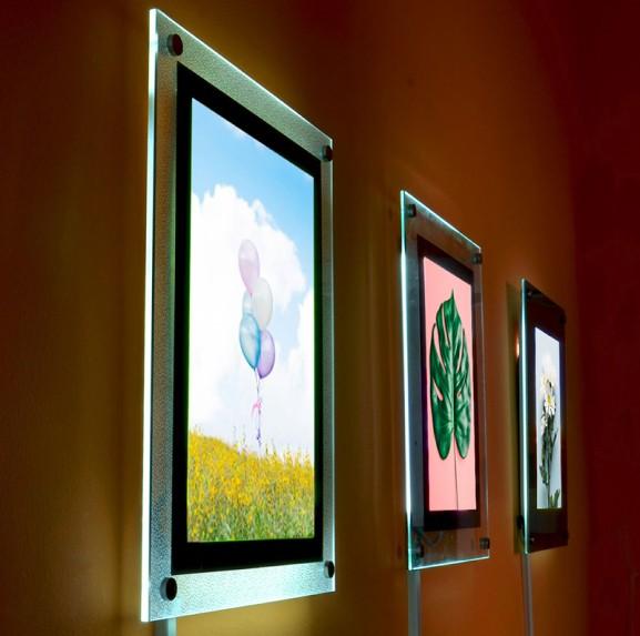 Тонкие световые панели (кристлайты, фреймлайты, тонкие лайтбоксы)